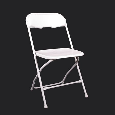 chair white plastic folding grand rental station