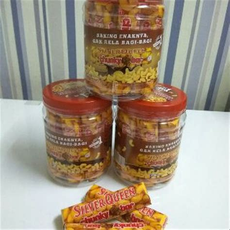 jual promo silverqueen chunky bar  gram  toples isi