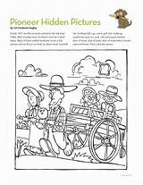 Lds Hidden Pioneer Coloring Activities Primary Mormon Friend Pages Activity Pioneers West Crafts Wild Magazine Quotes Games July Google Sharing sketch template
