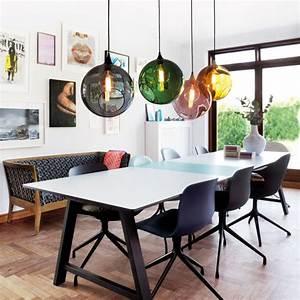 Suspension Design Salon : grande suspension design en verre transparent color ballroom xl ~ Melissatoandfro.com Idées de Décoration