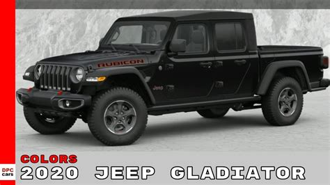 jeep gladiator colors youtube