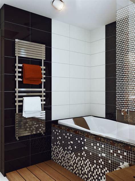 black white mosaic bathroom tile interior design ideas