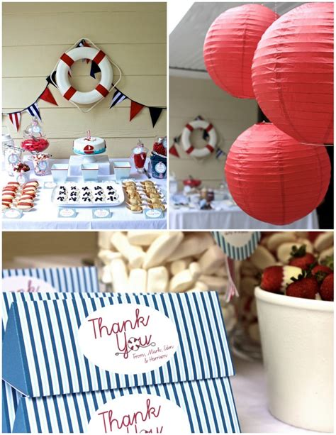 {real Parties} Nautical First Birthday Party!  The Tomkat