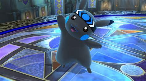 true blue pikachu super smash bros wii  skin mods