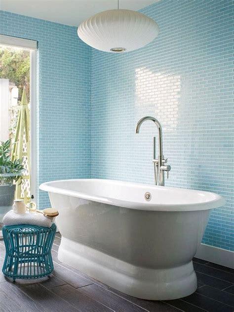 Subway Tile Bathroom Colors by Sky Blue Glass Subway Tile In 2019 Sky Blue Bathroom