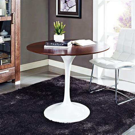 "Odyssey Modern 36"" Round Walnut Dining Table   Eurway"