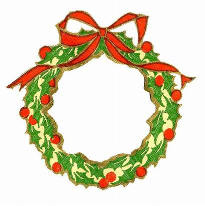 Wreath Christmas Frame Clipart Holly Graphics Card