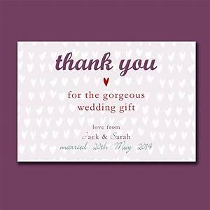 personalised engagement or wedding thank you card by molly With wedding gift thank you cards