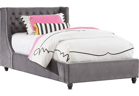 Alena Charcoal 2 Pc Twin Upholstered Bed