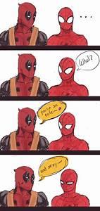 Wade Wilson Peter Parker Deadpool Spider-man Spideypool ...