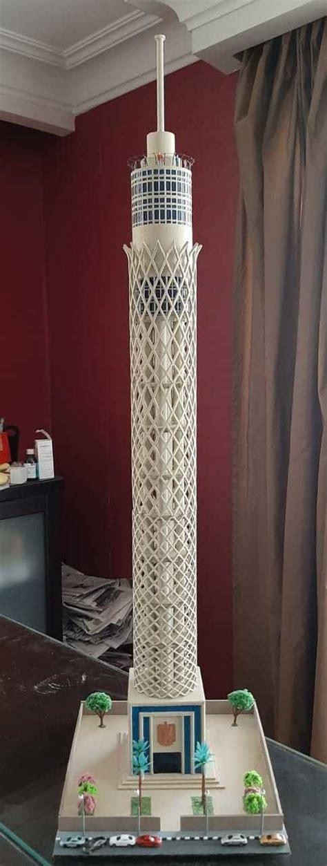 cairo tower  printable model cgtrader
