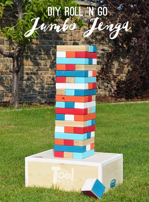 backyard jenga how to make a diy jenga the idea room