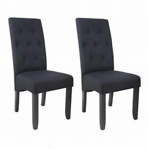 Chaise Noire Salle A Manger : chaises de salle a manger tissus noir achat vente ~ Teatrodelosmanantiales.com Idées de Décoration