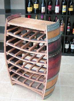 oak barrel wine rack