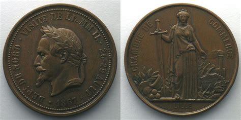 chambre des commerces et de l artisanat 1867 jetons und medaillen numismatique du commerce et de l