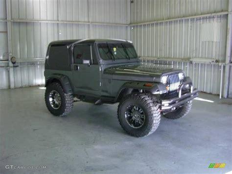 jeep gray wrangler 1990 charcoal gray metallic jeep wrangler laredo 4x4