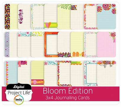 Bloom Cards Journaling Edition 3x4 Project Digital