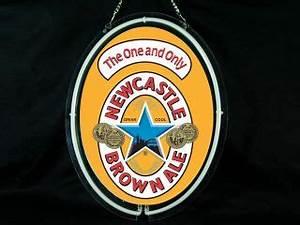 Newcastle Nut Brown Ale XXXL 65 Back Bar Mirror Beautiful
