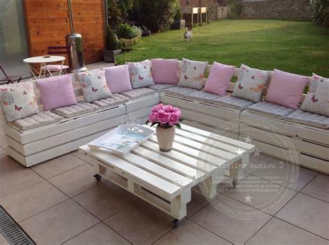 salon de jardin r 233 alis 233 avec des palettes meubles et