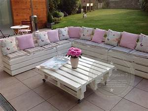 Salon De Jardin En Palette Tuto : salon de jardin avec des palettes interessant meuble de ~ Dode.kayakingforconservation.com Idées de Décoration