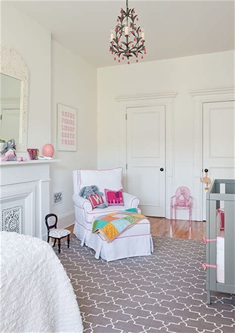 Pink and Gray Nursery Transitional nursery The Brooklyn Home Company