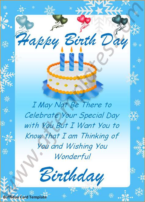 birthday template word 5 word birthday card template teknoswitch