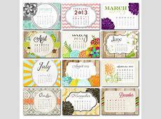 Calendarios 2013 con diseños modernos y elegantes Mil