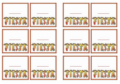 fiesta mexican  tags birthday printable