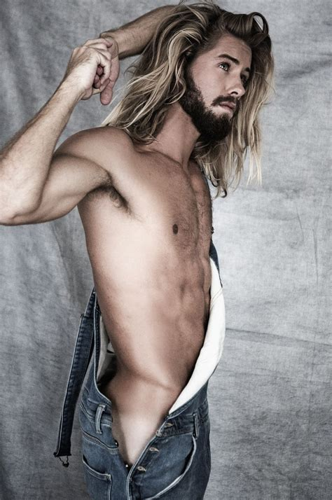 Sexy Man With Long Hair Handsome Shirtless Sexy Men