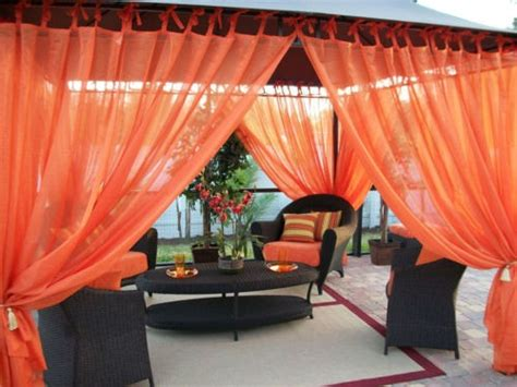 patio pizazz outdoor gazebo sheer drapes 2 panels