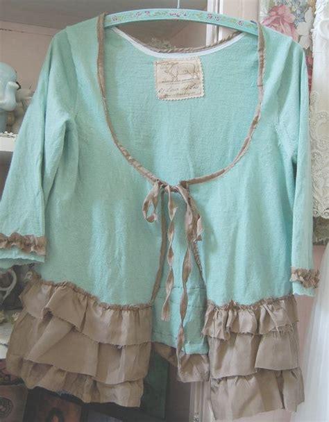 upcycled shabby chic wool cardigan sweater womens shabby chic medium merino wool upcycled altered clothing mint aqua