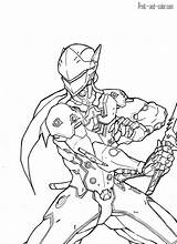 Overwatch Coloring Genji Coloriage Drawing Deviantart Splatoon Adult Sketch Desenhos Colorir Desenho Draw Colouring Sheets Drawings Kaito Sketches Largement Paginas sketch template