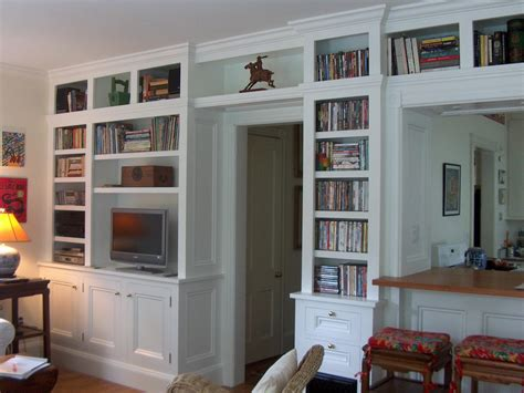 bookcase built in media cabinet