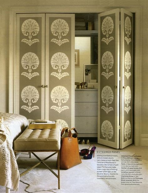 wallpaper closet bifold doors interior decor
