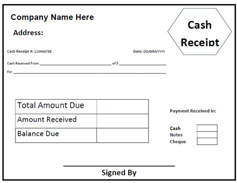 50 free receipt templates sales donation taxi