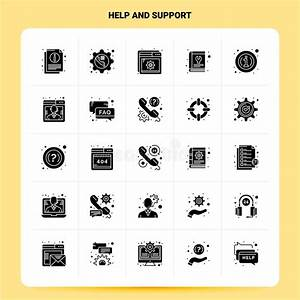 25 Help And Support Icon Set  100 Editable Eps 10 Files