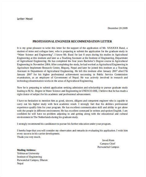 professional recommendation letter 82 recommendation letter exles sles doc pdf 20275