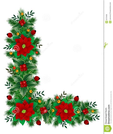 christmas decoration stock vector image of leaf holly