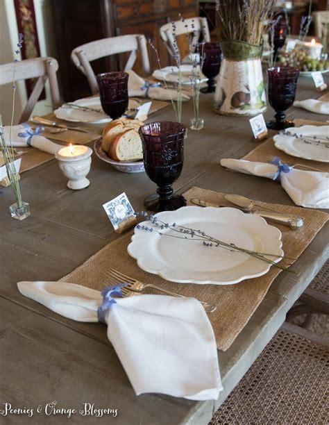 lavender table l lavender farmhouse table setting haus