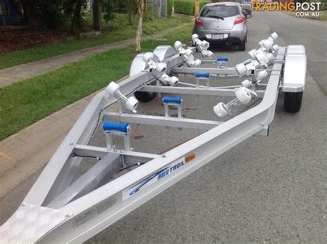 Boat Trailer Wheels Alloy by Seatrail 6 2m Wide Aluminium Rollered Boat Trailer