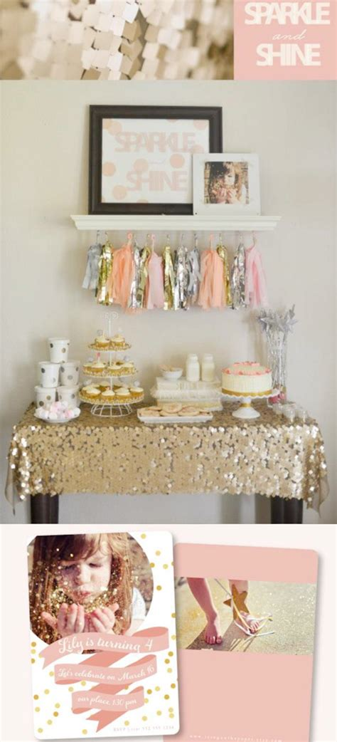 karas party ideas sparkle shine glitter glam glitzy girl