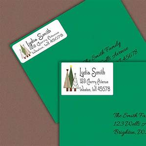 christmas address labels personalized return address label With custom printed address labels