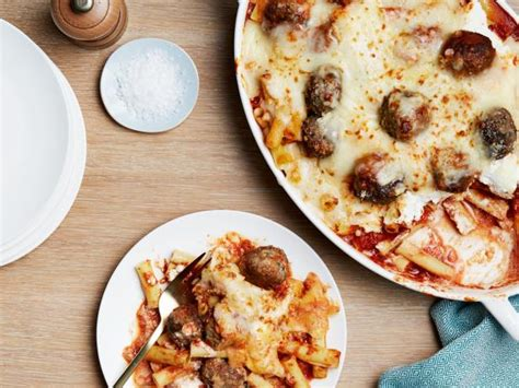 baked ziti with meatballs baked ziti with meatballs recipes cooking channel recipe giada de laurentiis cooking channel