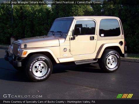 desert jeep wrangler desert sand pearlcoat 1999 jeep wrangler sahara 4x4