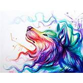 Colorful Wolf Painting Color wolf by lucky978