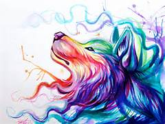 Color Wolf by Lucky978 on DeviantArt  Colorful Wolf Painting
