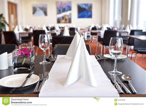 kitchen island table plans tables with formal setup in modern restaurant royalty free