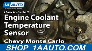 How To Replace Coolant Temperature Sensor 81