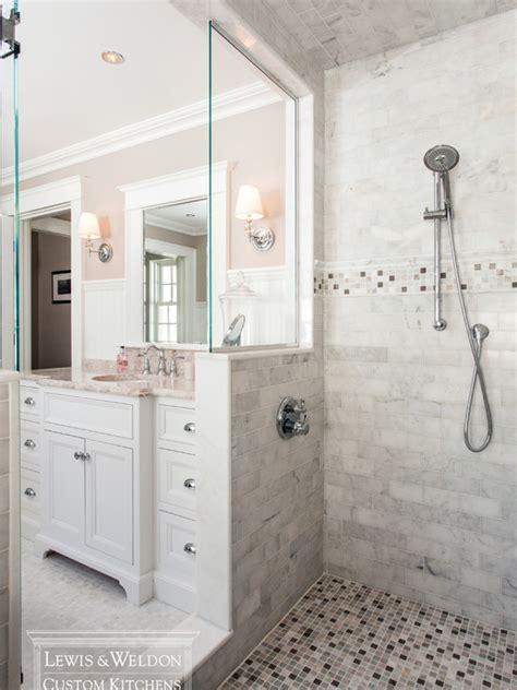 wood tile kitchen bathroom walk in shower no door ideas