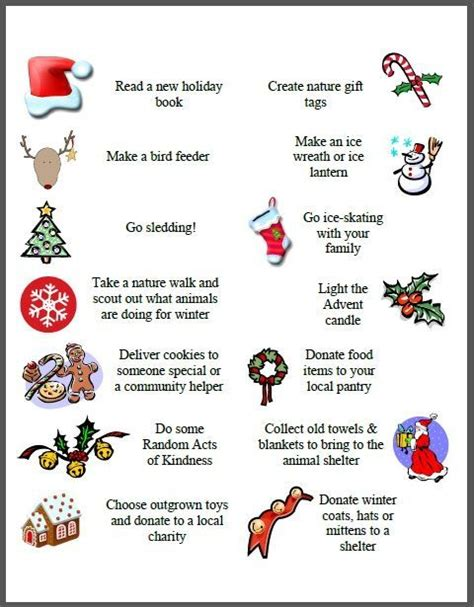 100 activities for your advent calendar free printables volunteer ideas and